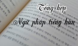 Một số ngữ pháp tiếng Hàn Quốc trung cấp