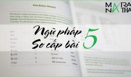 Ngữ pháp tiếng Hàn sơ cấp bài 5