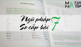 Ngữ pháp tiếng Hàn sơ cấp bài 7