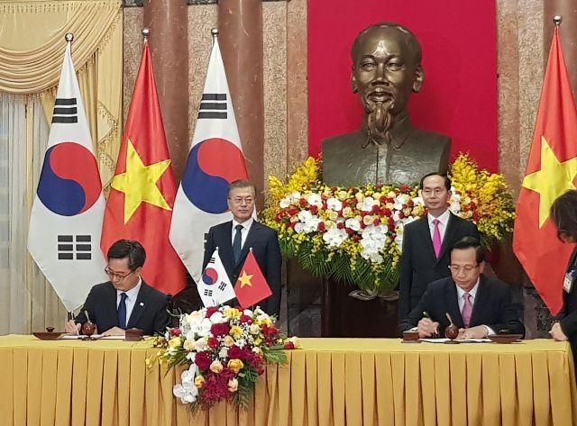 Hàn Quốc và Việt Nam kí kết bản ghi nhớ MOU lần thứ 6