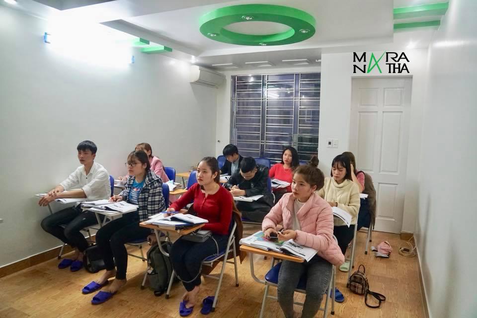 Hình ảnh lớp tiếng Hàn ca sáng - Maranatha
