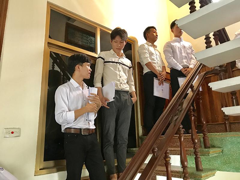 Hình ảnh buổi phỏng vấn du học Hàn Quốc 1