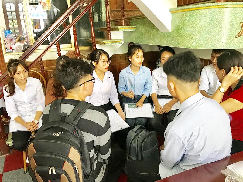 Hình ảnh buổi phỏng vấn du học Hàn Quốc 2