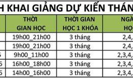 Lịch khai giảng lớp tiếng Hàn tháng 8