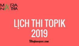Lịch thi Topik tiếng Hàn 2019